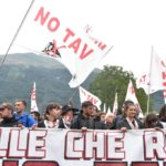 NO TAV protesters' rally march